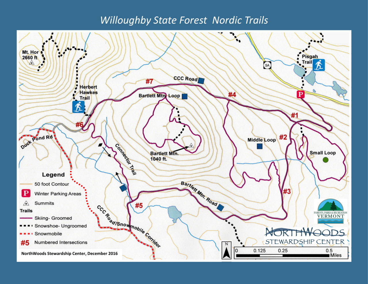 Nordic Ski & Snowshoe Trails – Northwoods Stewardship Center on pawtuckaway state park map, northwood nh, greenfield state park map, silver lake state park map,